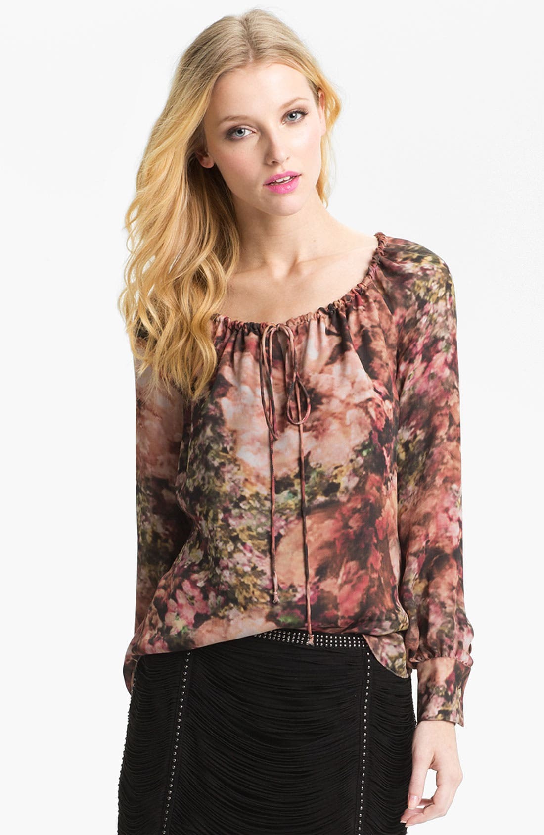 Alternate Image 1 Selected - Haute Hippie Photo Floral Peasant Blouse