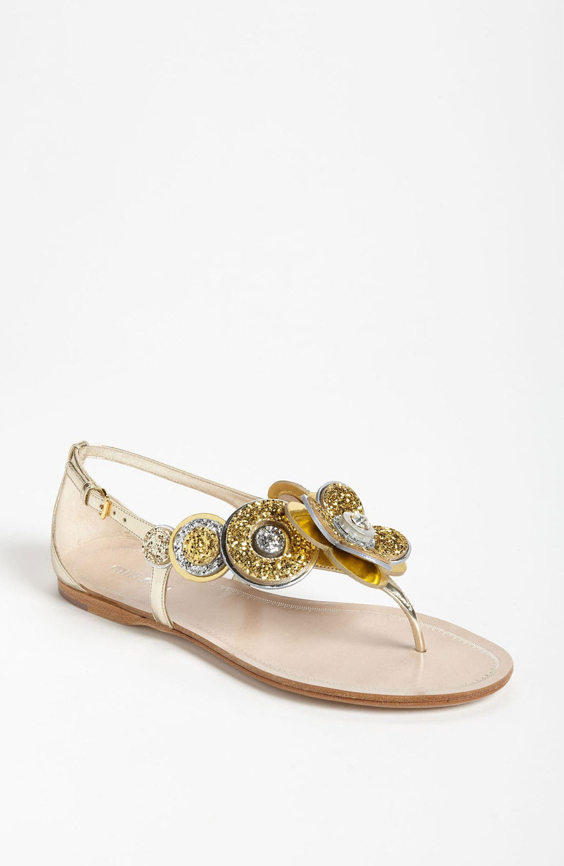 Alternate Image 1 Selected - Miu Miu Flower Thong Sandal