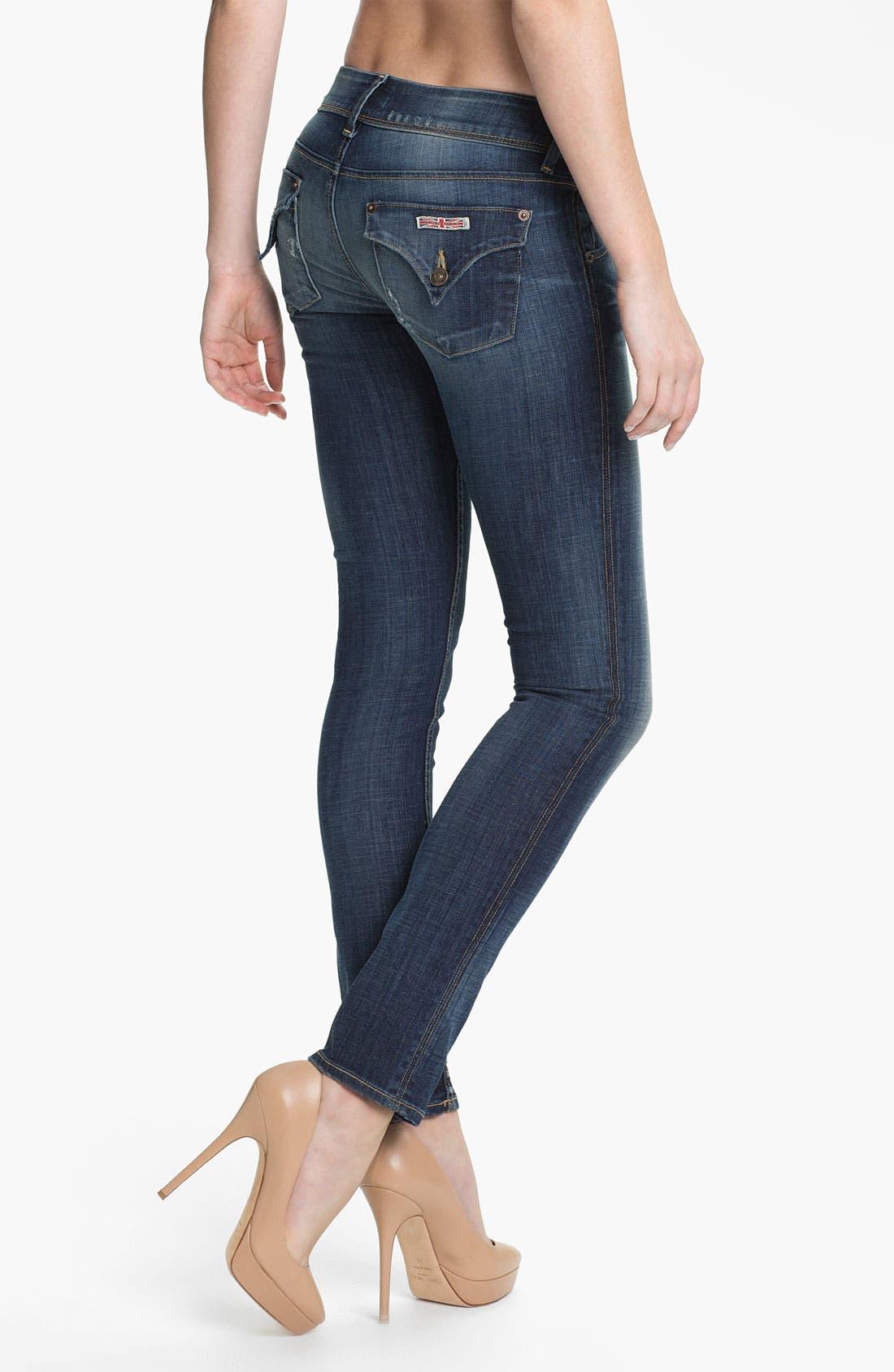 Alternate Image 2  - Hudson Jeans Skinny Stretch Jeans (Whitcomb)
