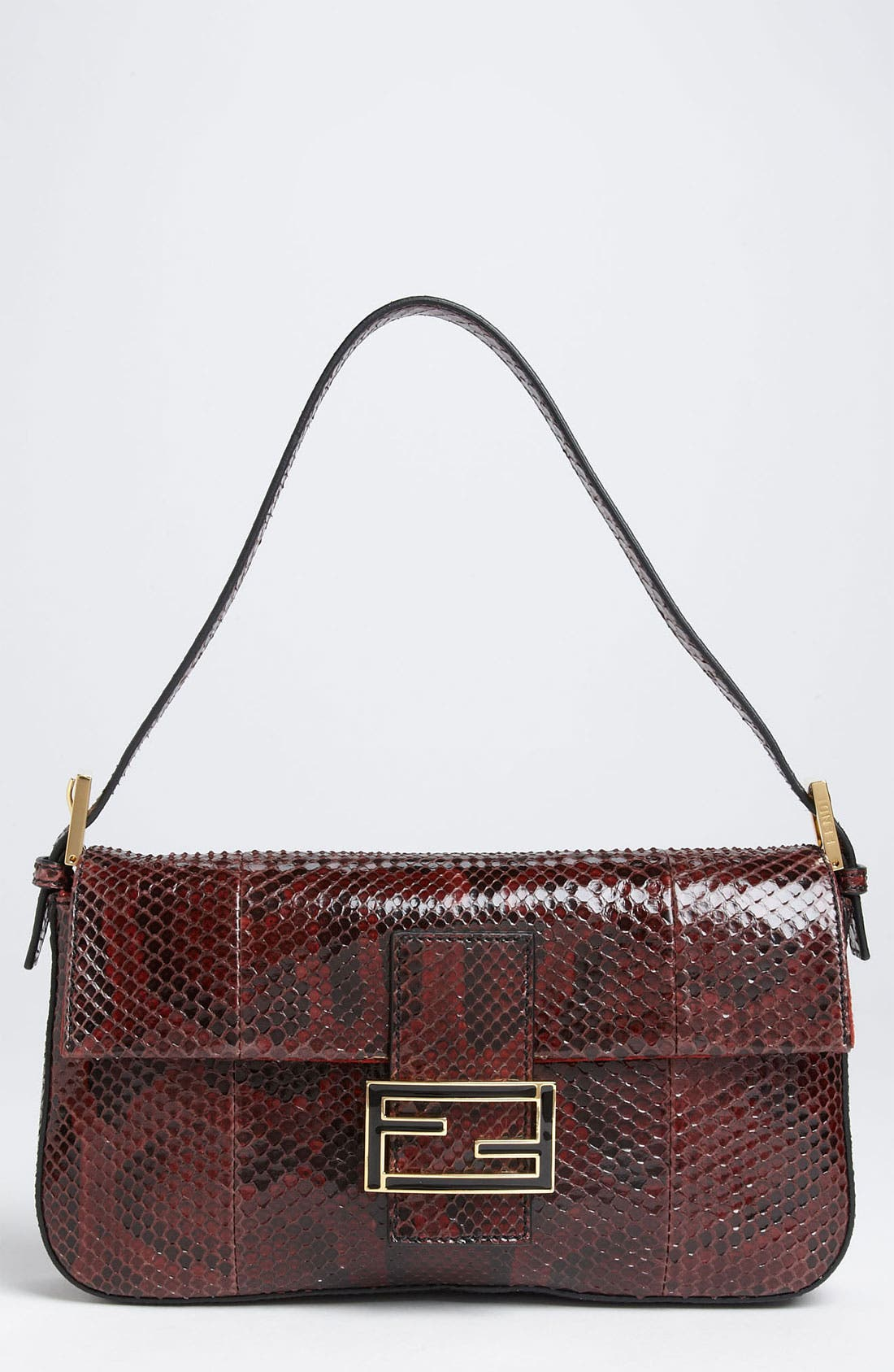 Alternate Image 1 Selected - Fendi Genuine Python Baguette