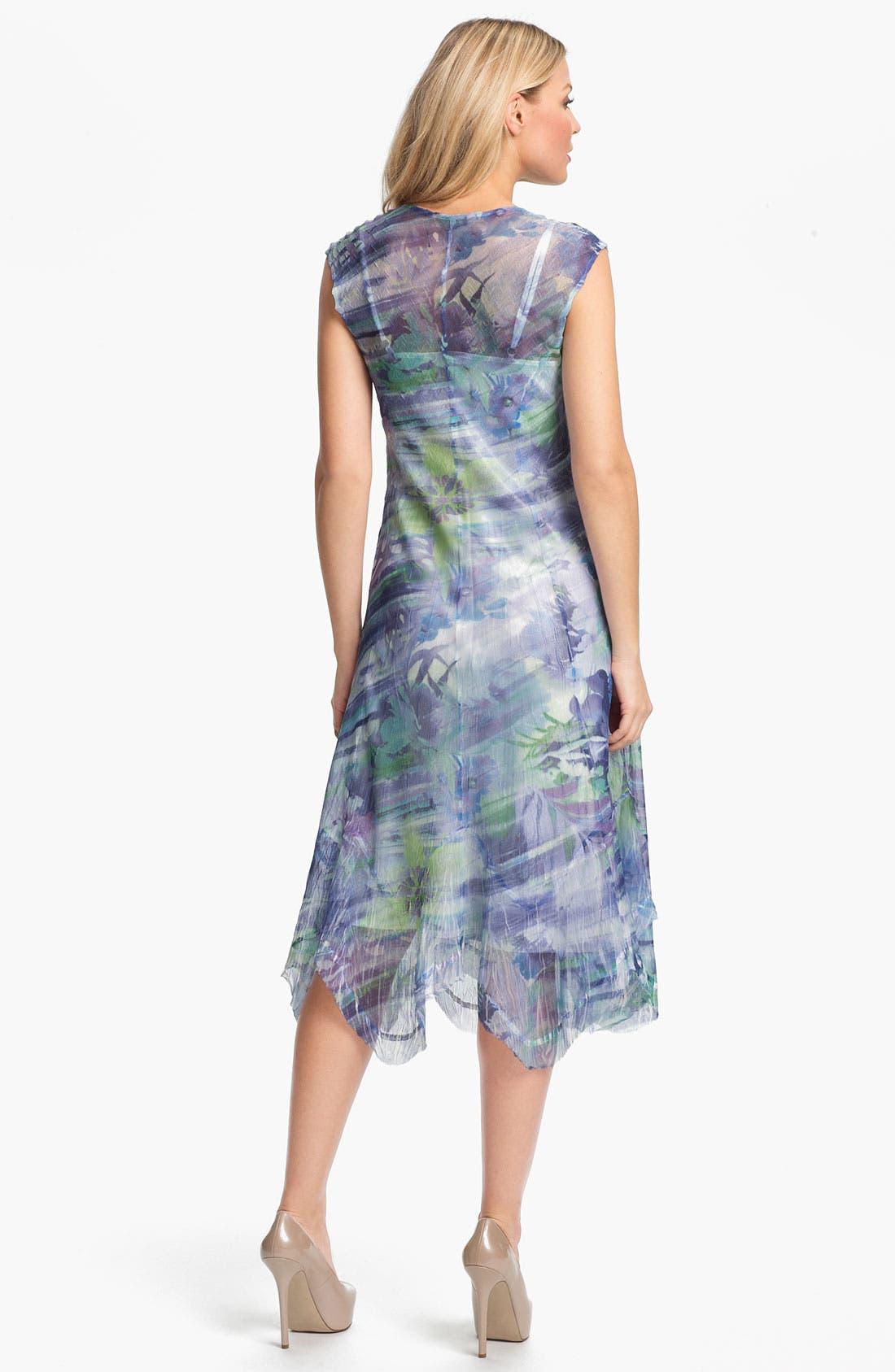 Alternate Image 2  - Komarov Sheer Print A-Line Dress
