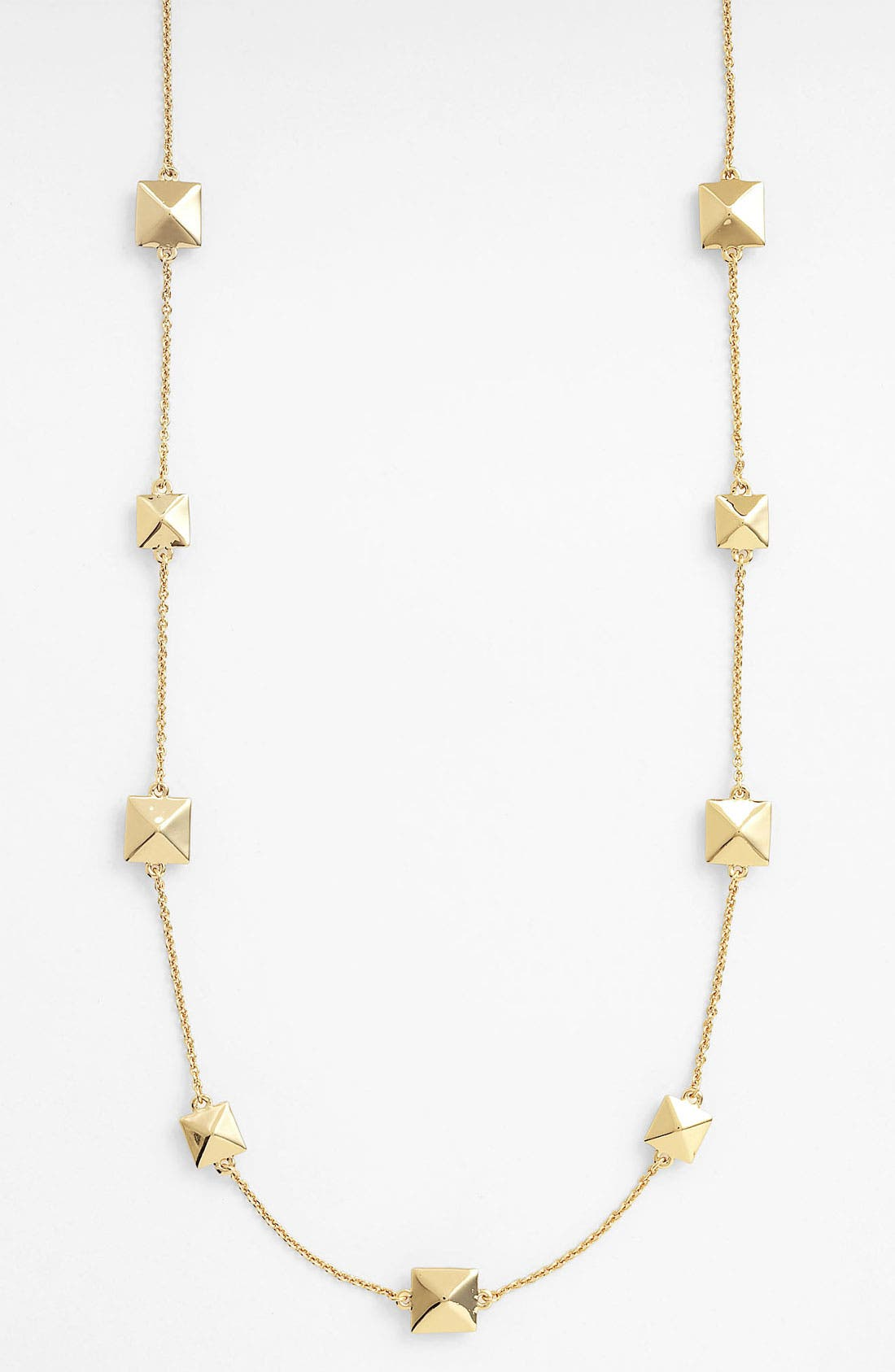 Alternate Image 1 Selected - kate spade new york 'locked in' long pyramid necklace