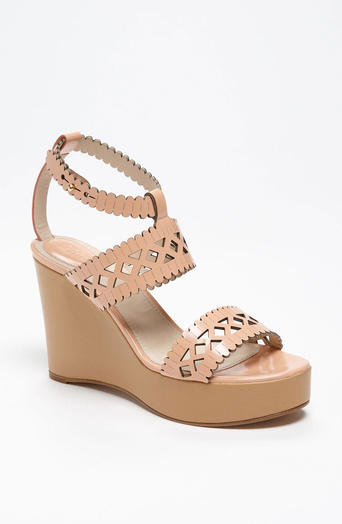 Alternate Image 1 Selected - Chloé Laser Cut Wedge Sandal