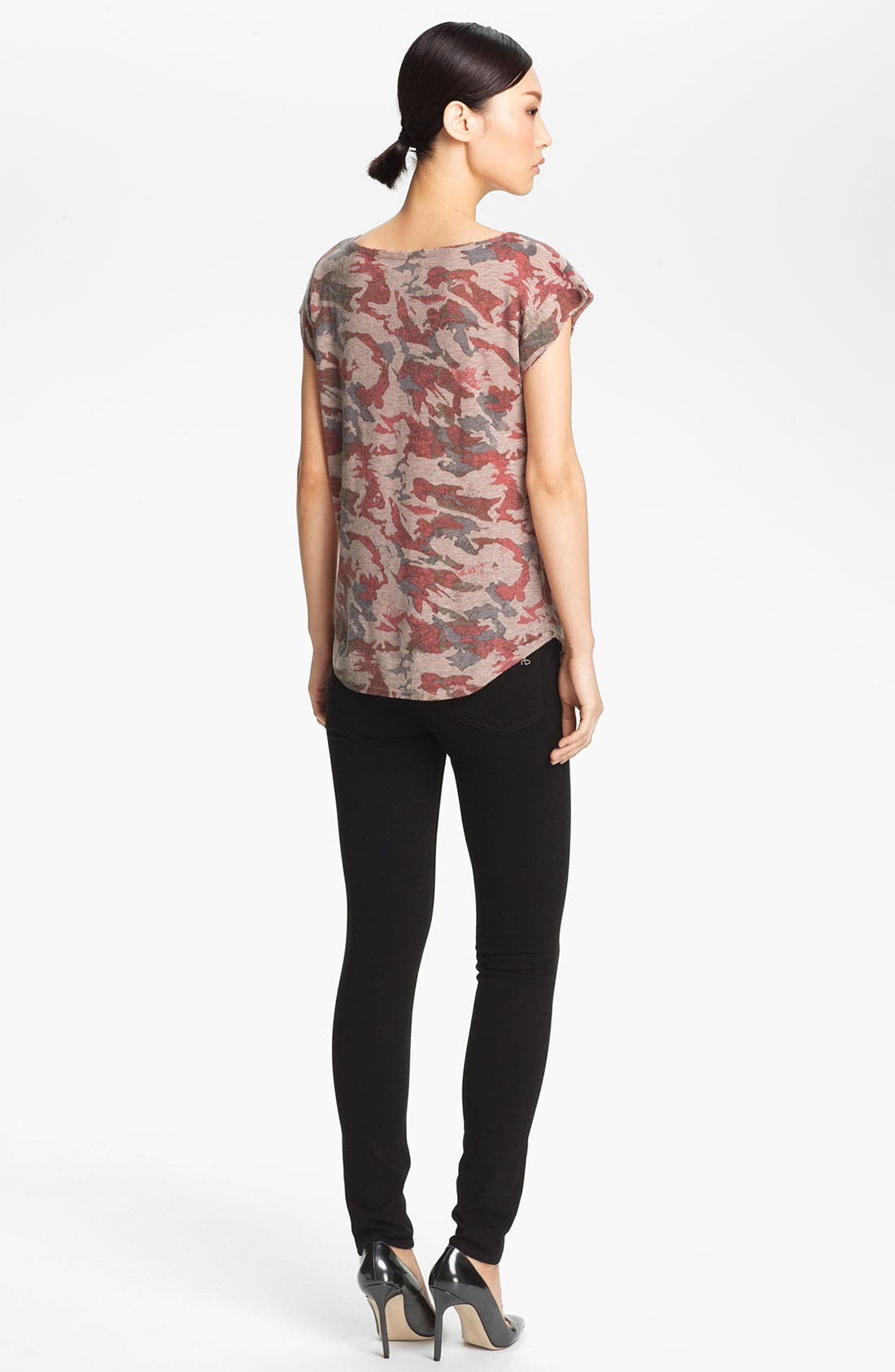 Alternate Image 2  - Zadig & Voltaire 'Data' Camo Print Cashmere Tee