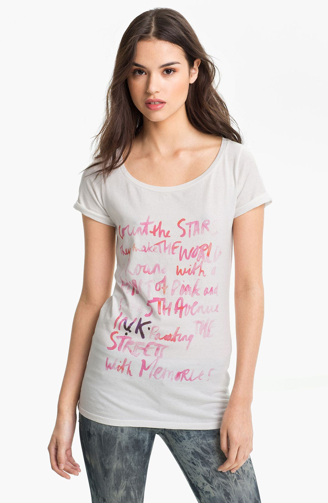 Alternate Image 1 Selected - Maison Scotch Scoop Neck Tee