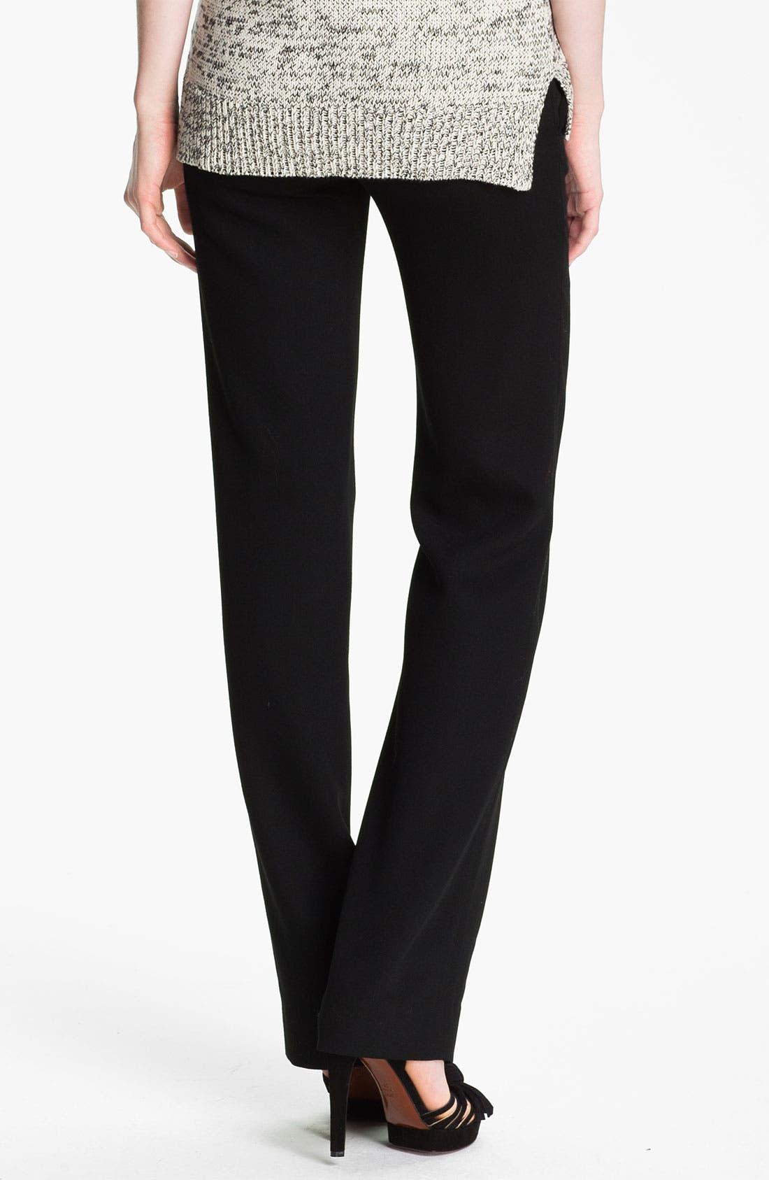 Alternate Image 2  - Halston Heritage Straight Leg Wool Crepe Pants