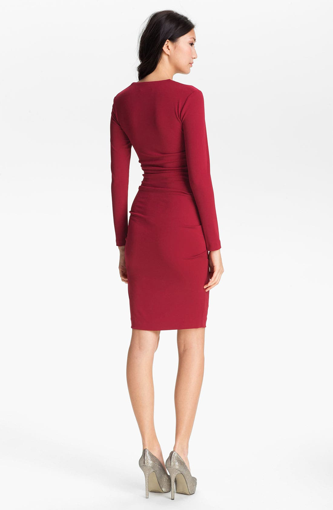 Alternate Image 2  - Nicole Miller Long Sleeve Matte Jersey Sheath Dress