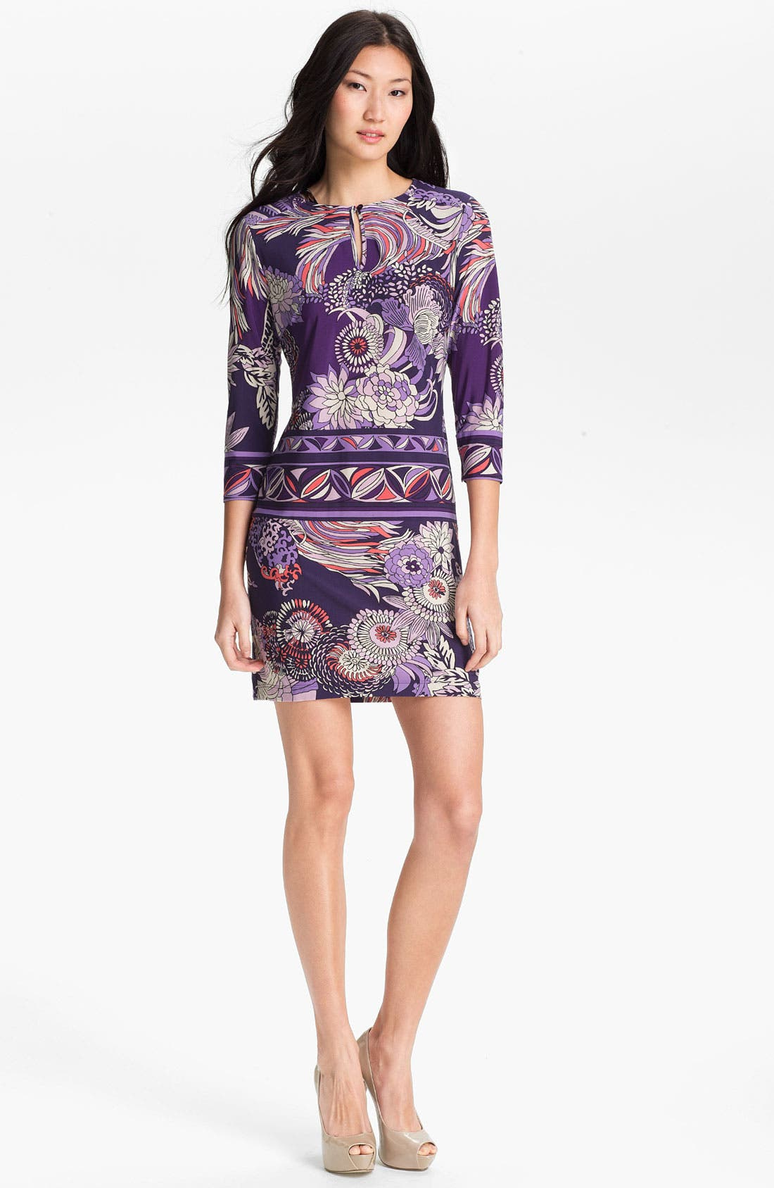 Main Image - Donna Morgan 'Julie' Print Sheath Dress