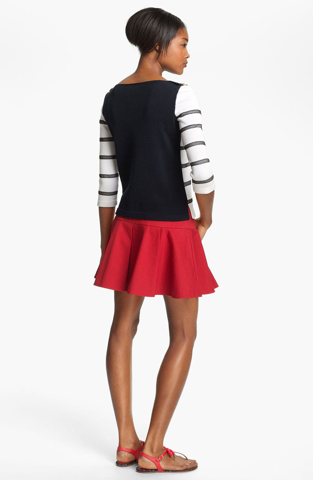 Alternate Image 2  - RED Valentino Point d'Esprit Stripe Top