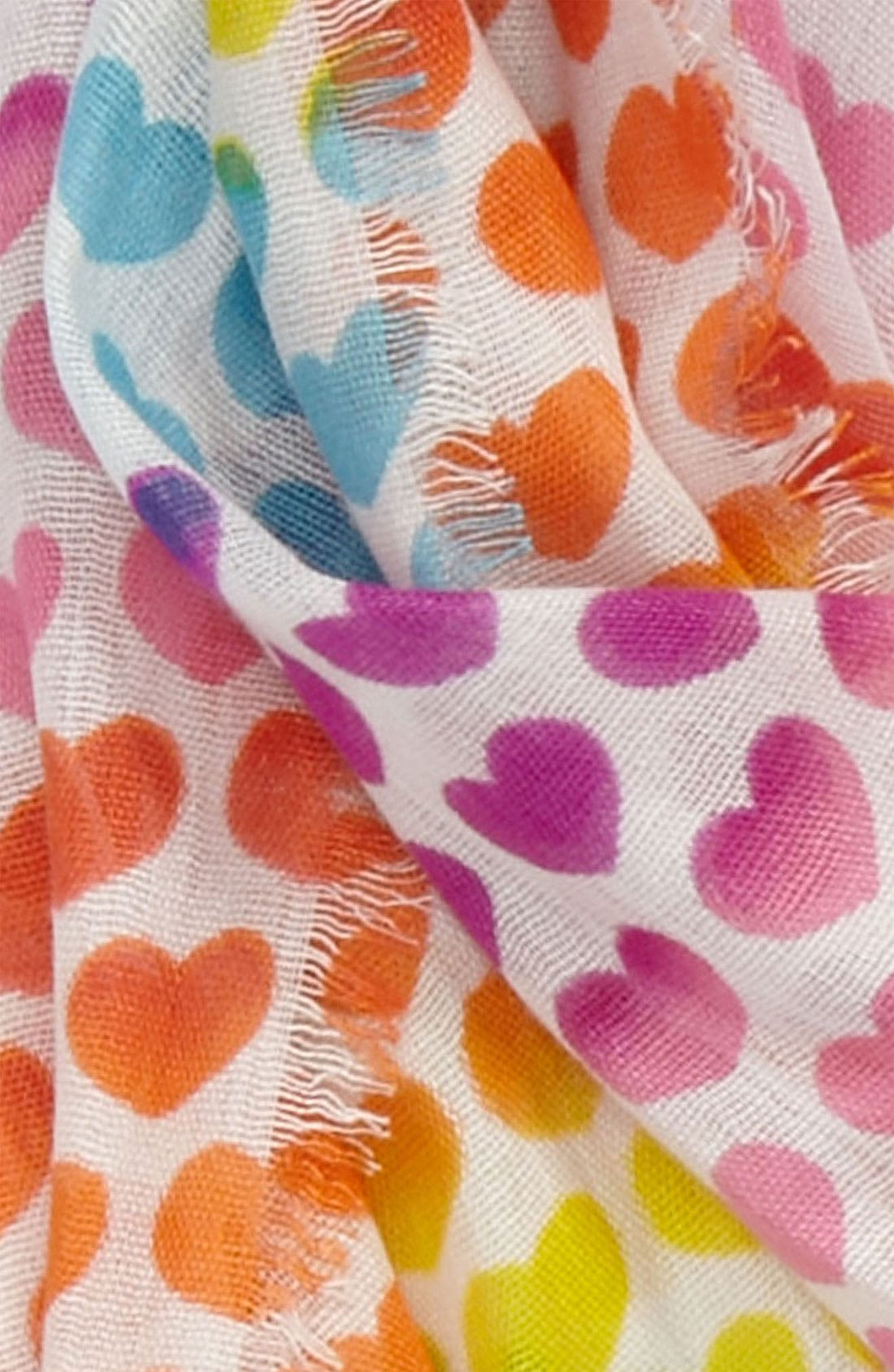 Alternate Image 2  - Peace of Cake 'Rainbow Hearts' Scarf (Girls)
