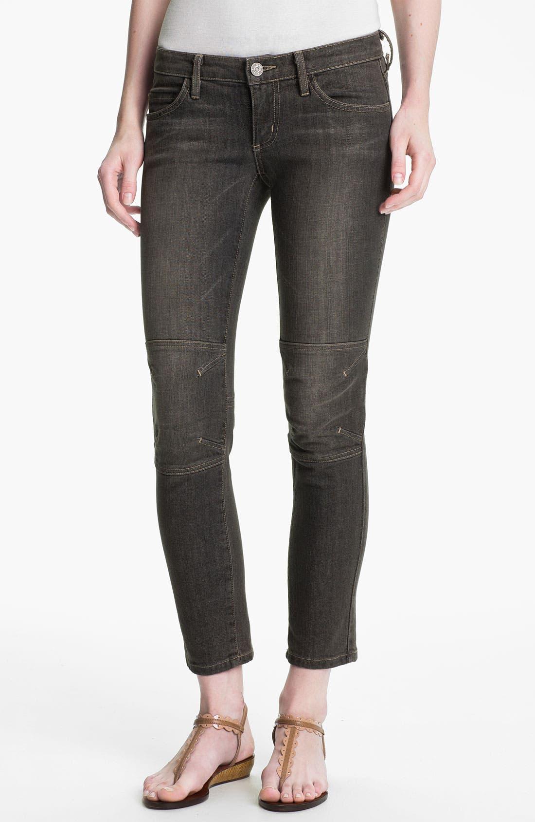 Main Image - L'AGENCE Skinny Moto Crop Jeans