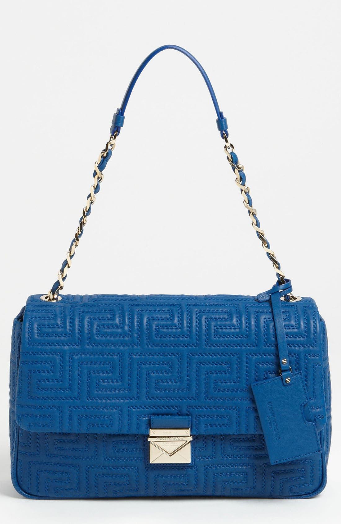 Alternate Image 1 Selected - Versace Leather Shoulder Bag