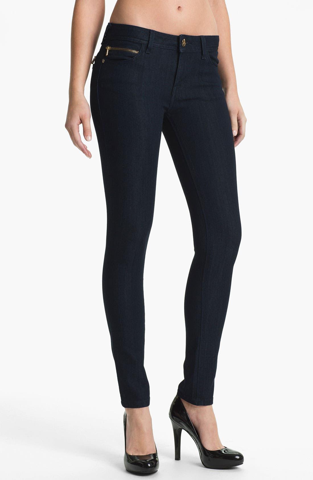Main Image - DL1961 'Amanda' X-Fit Stretch Denim Zip Pocket Skinny Jeans (Archer)
