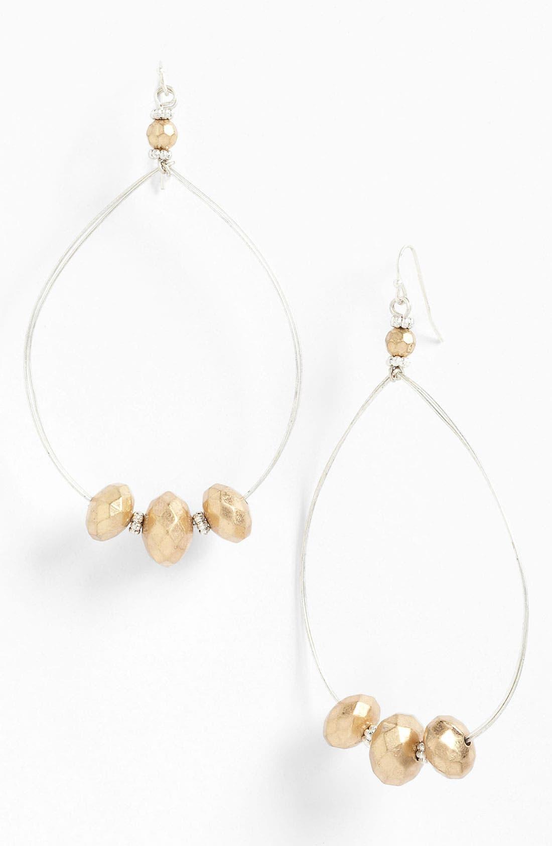 Main Image - Jessica Simpson Beaded Hoop Earrings