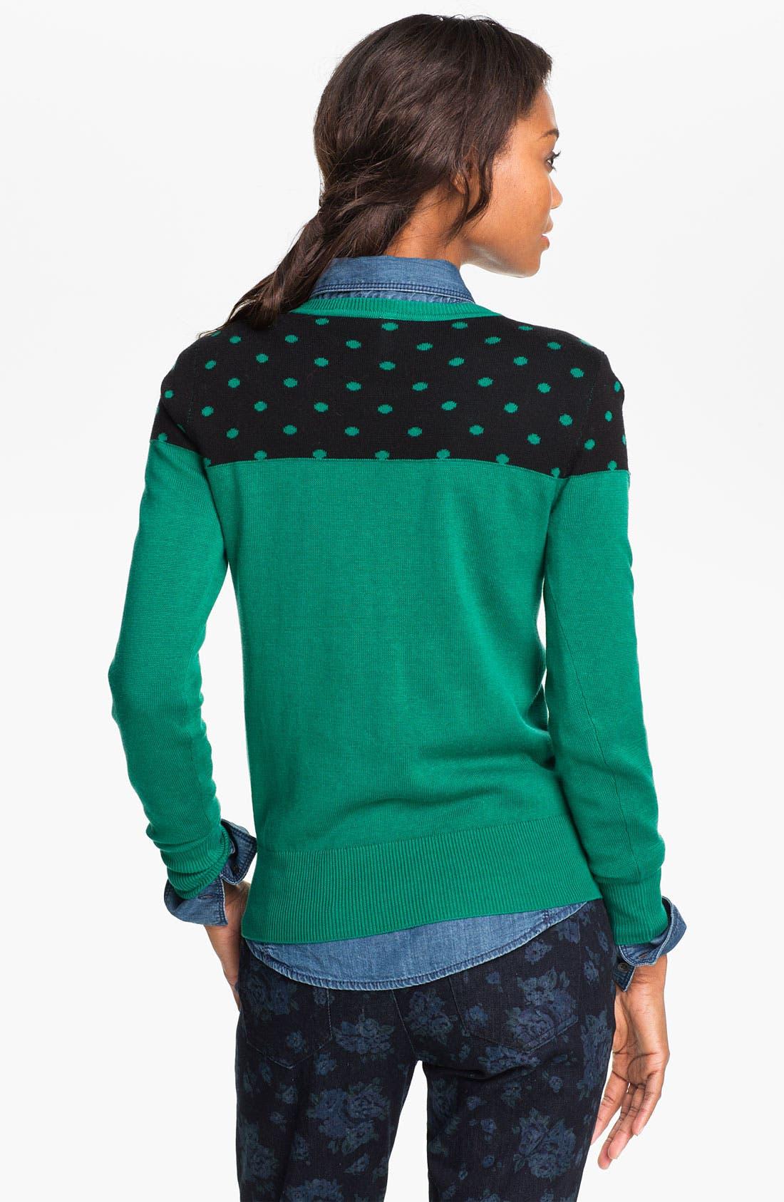 Alternate Image 2  - Caslon® Patterned Crewneck Sweater