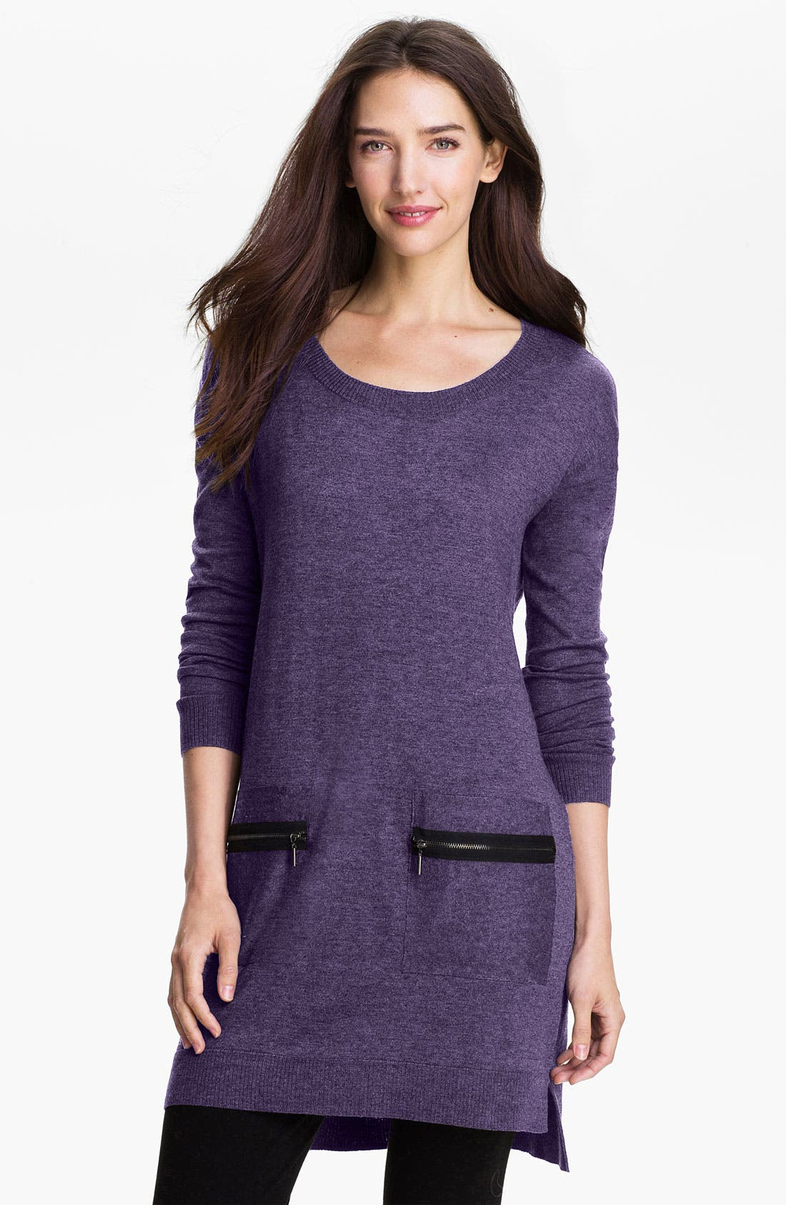 Main Image - Kensie Zip Pocket Sweater Dress