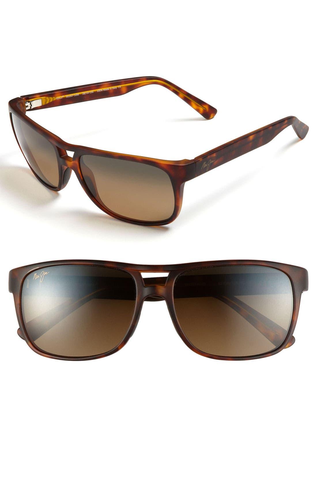 'Waterways - PolarizedPlus<sup>®</sup>2' 58mm Sunglasses,                         Main,                         color, Matte Tortoise