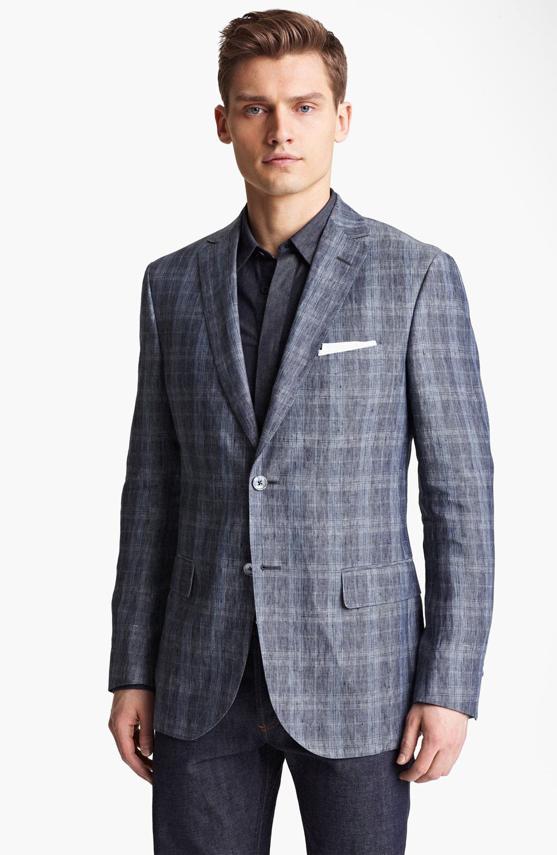 Alternate Image 1 Selected - Z Zegna Trim Fit Linen Sportcoat
