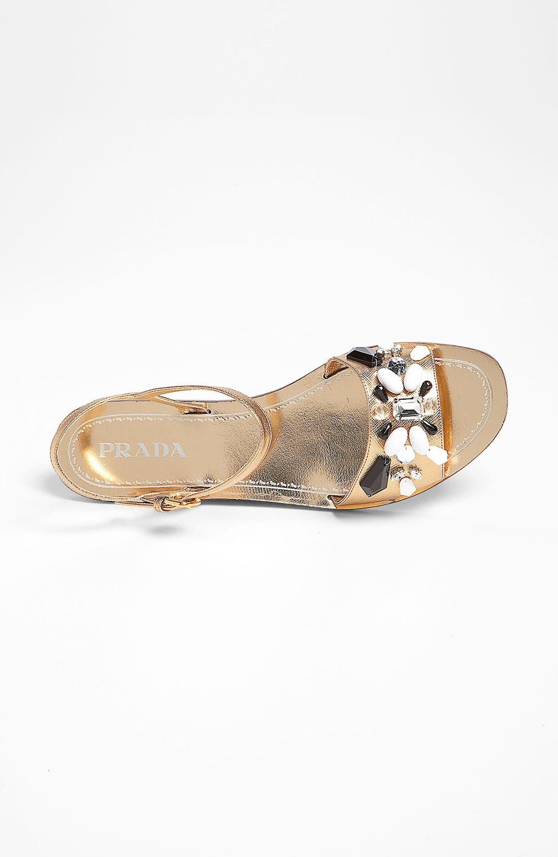 Alternate Image 3  - Prada Beaded Strap Flat Sandal