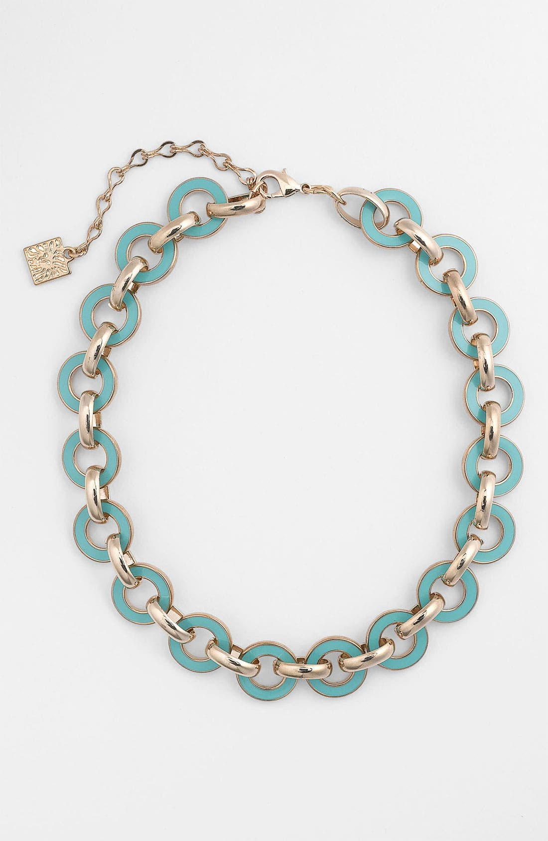 Alternate Image 1 Selected - Anne Klein Enamel Link Necklace