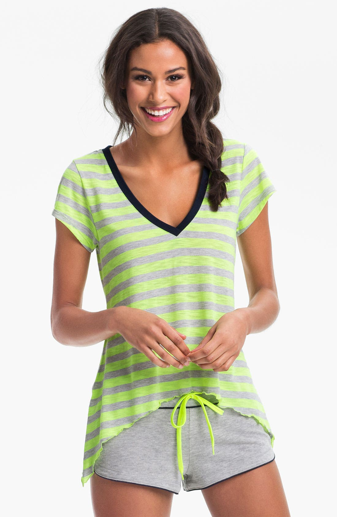 Alternate Image 1 Selected - Steve Madden 'Earn Your Stripes' Lounge Tee