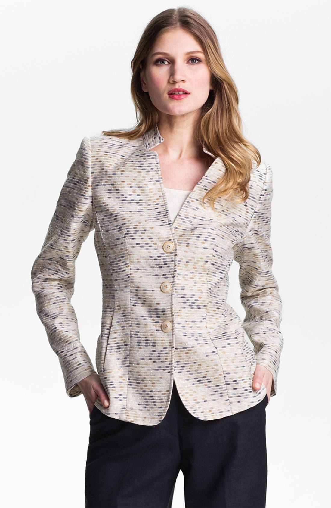 Alternate Image 1 Selected - Santorelli Abstract Tweed Jacket