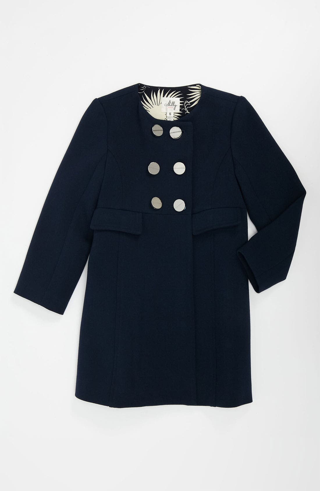 Main Image - Milly Minis 'Riley' Double Breasted Coat (Little Girls & Big Girls)