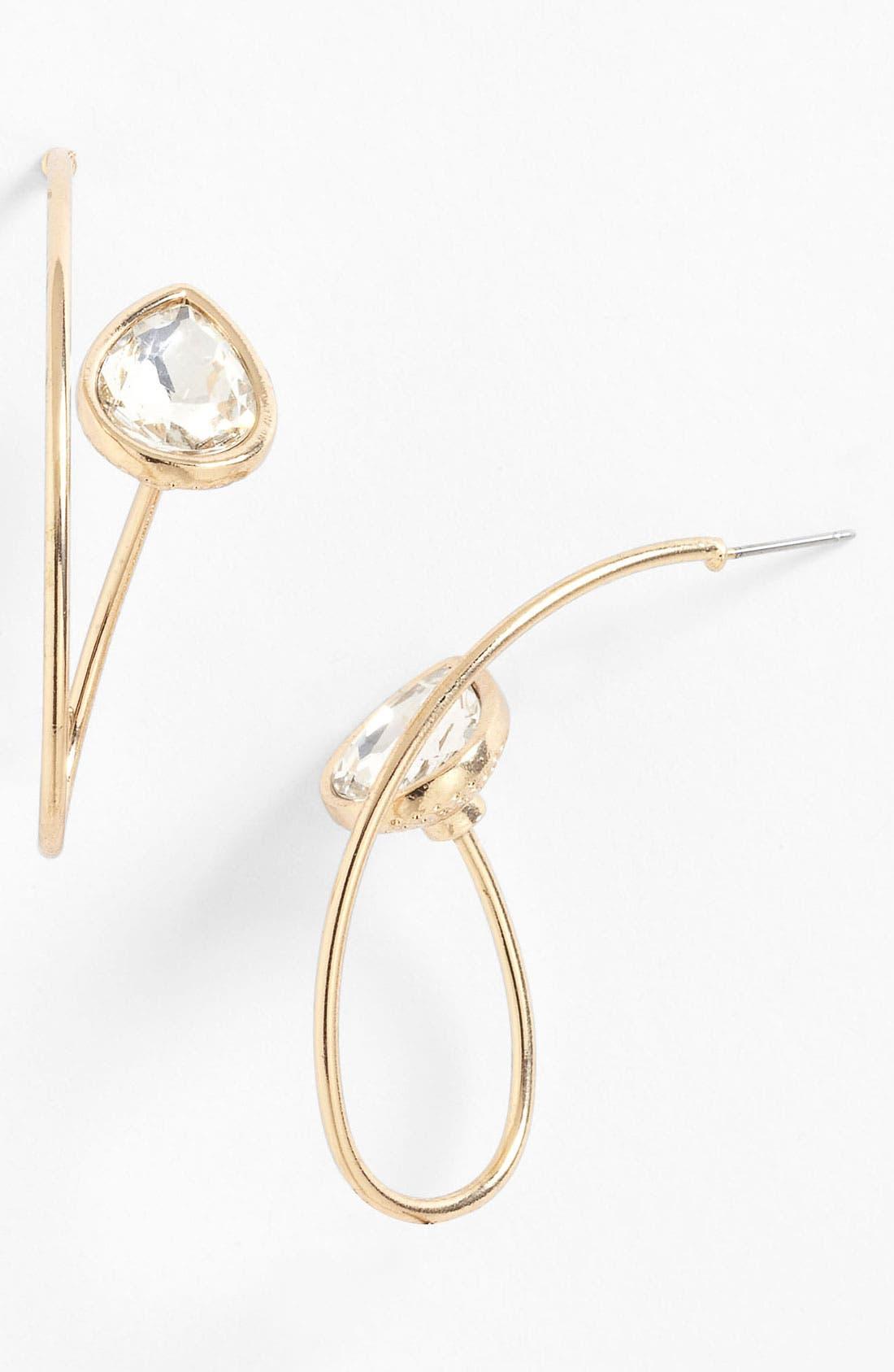 Alternate Image 1 Selected - Adia Kibur Wire Loop Earrings