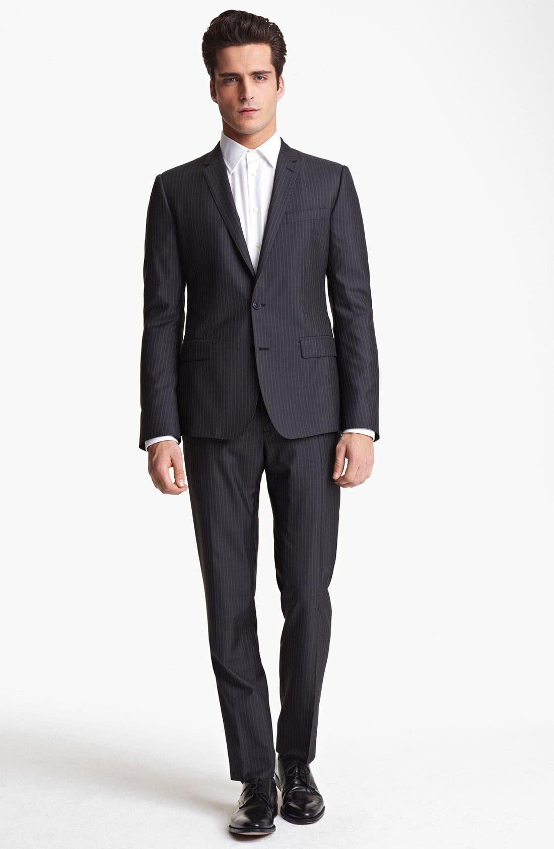 Main Image - Dolce&Gabbana Pinstripe Wool & Silk Suit