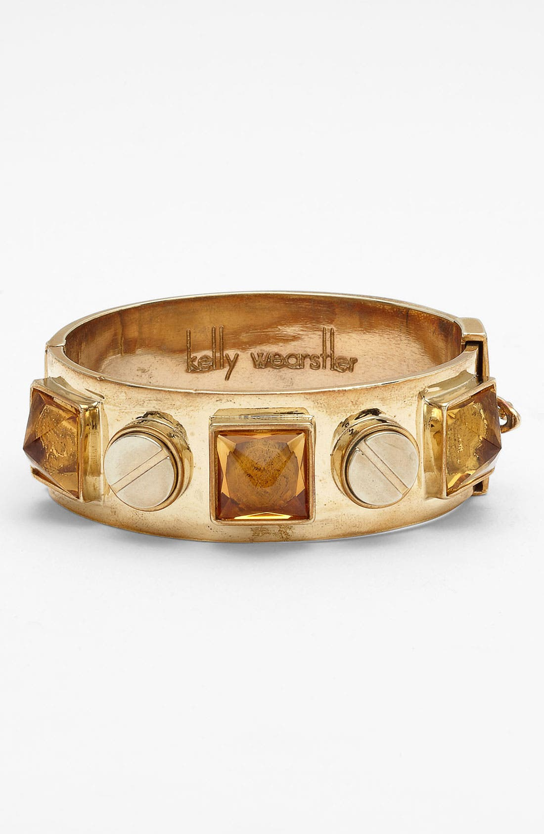 Alternate Image 1 Selected - Kelly Wearstler Screw & Faceted Stone Bangle