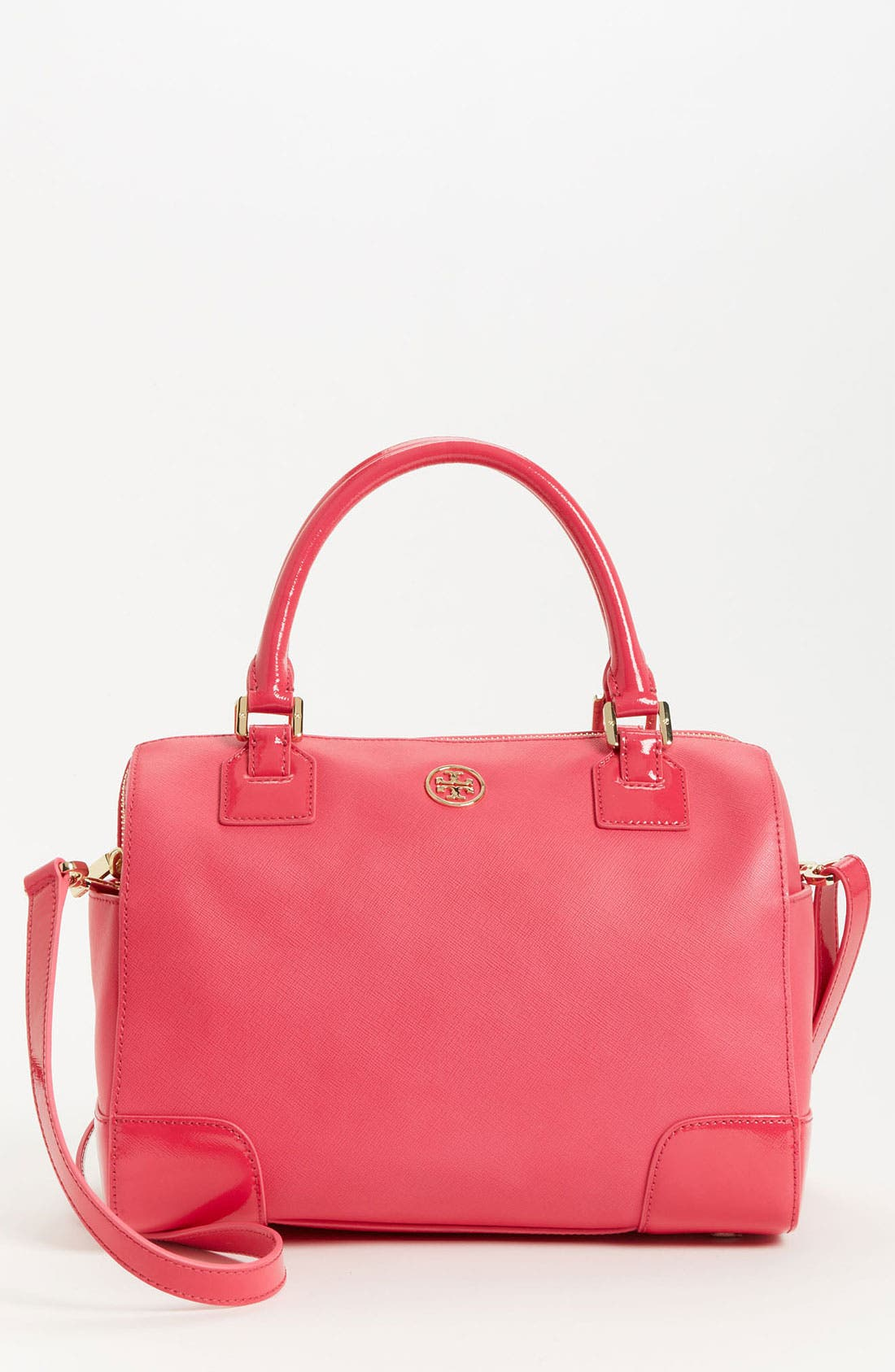 Alternate Image 1 Selected - Tory Burch 'Robinson - Middy' Saffiano Leather Satchel
