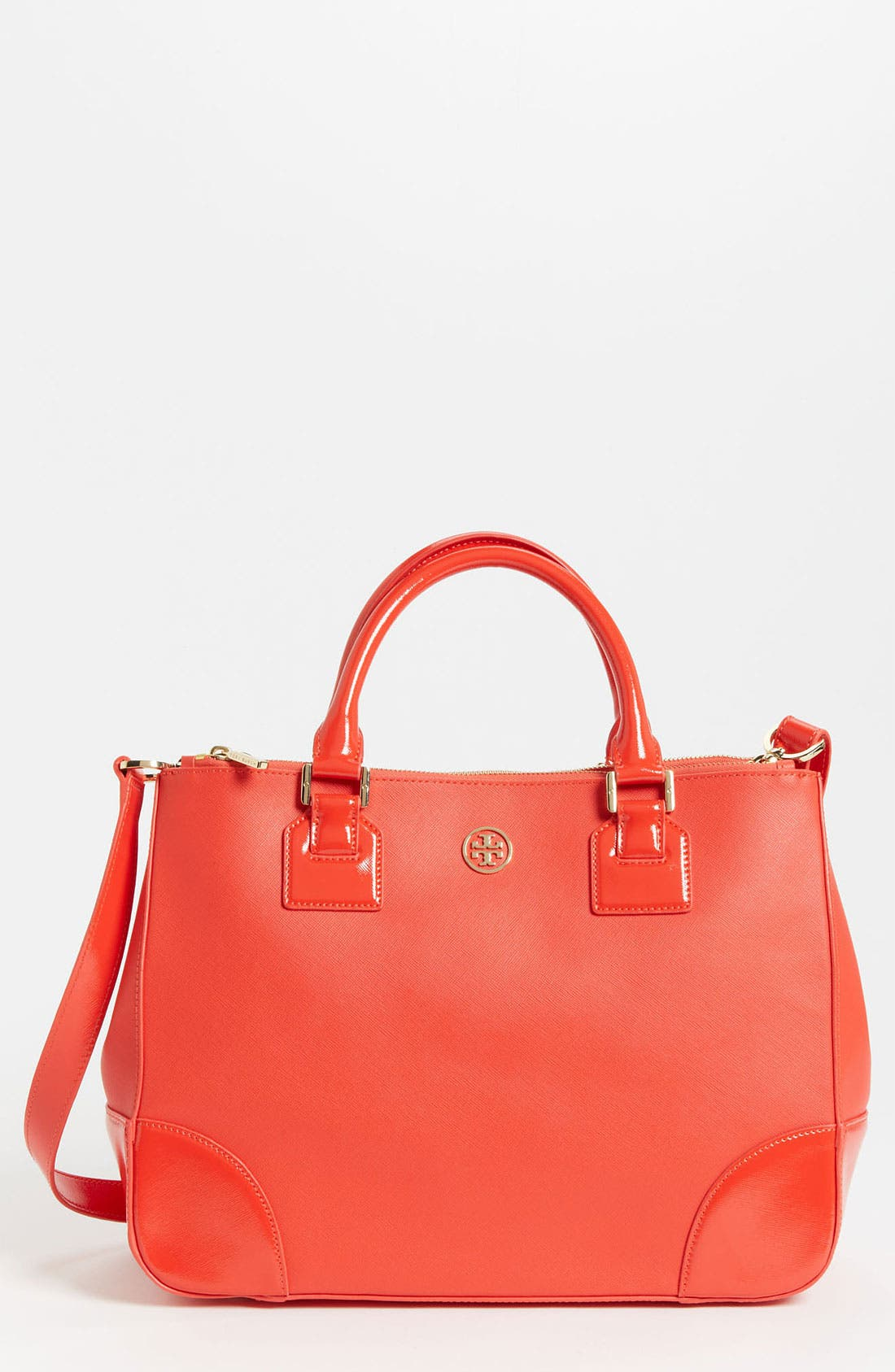 Main Image - Tory Burch 'Robinson' Double Zip Leather Tote