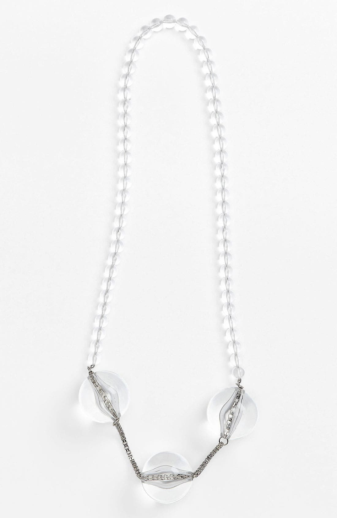 Main Image - Natasha Couture Bead & Chain Necklace
