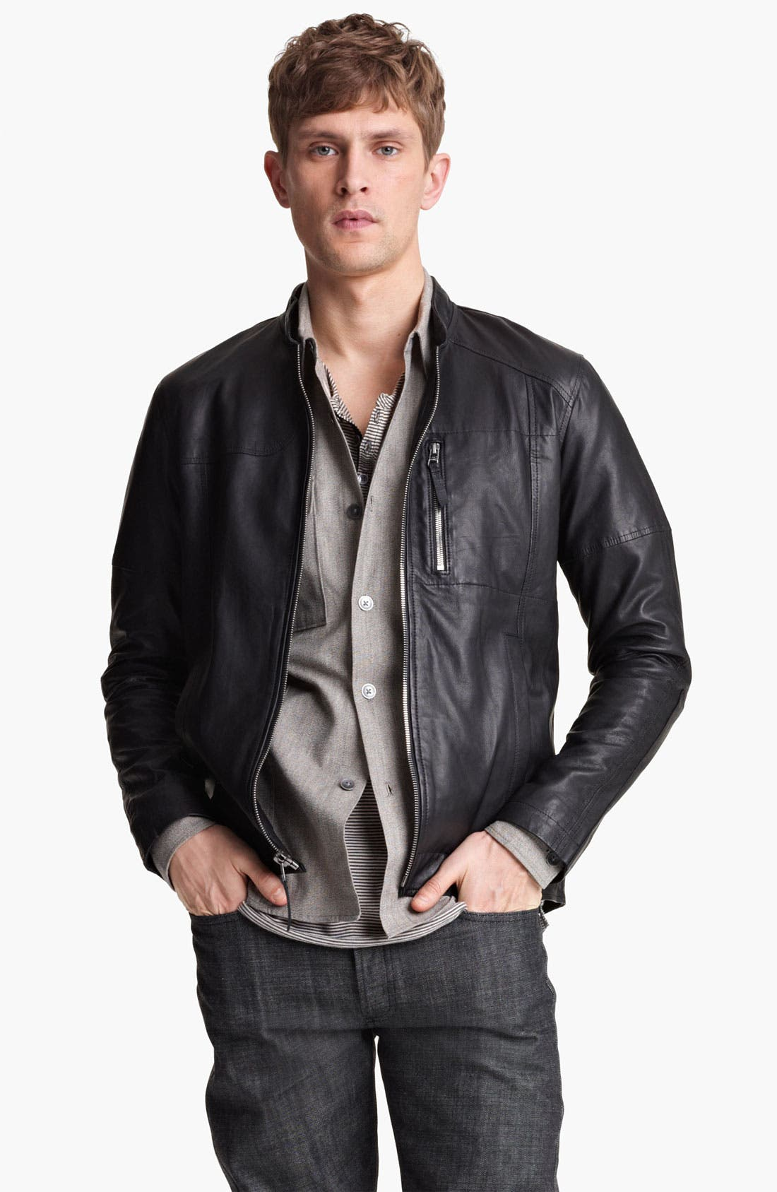 Alternate Image 1 Selected - Field Scout Leather Jacket