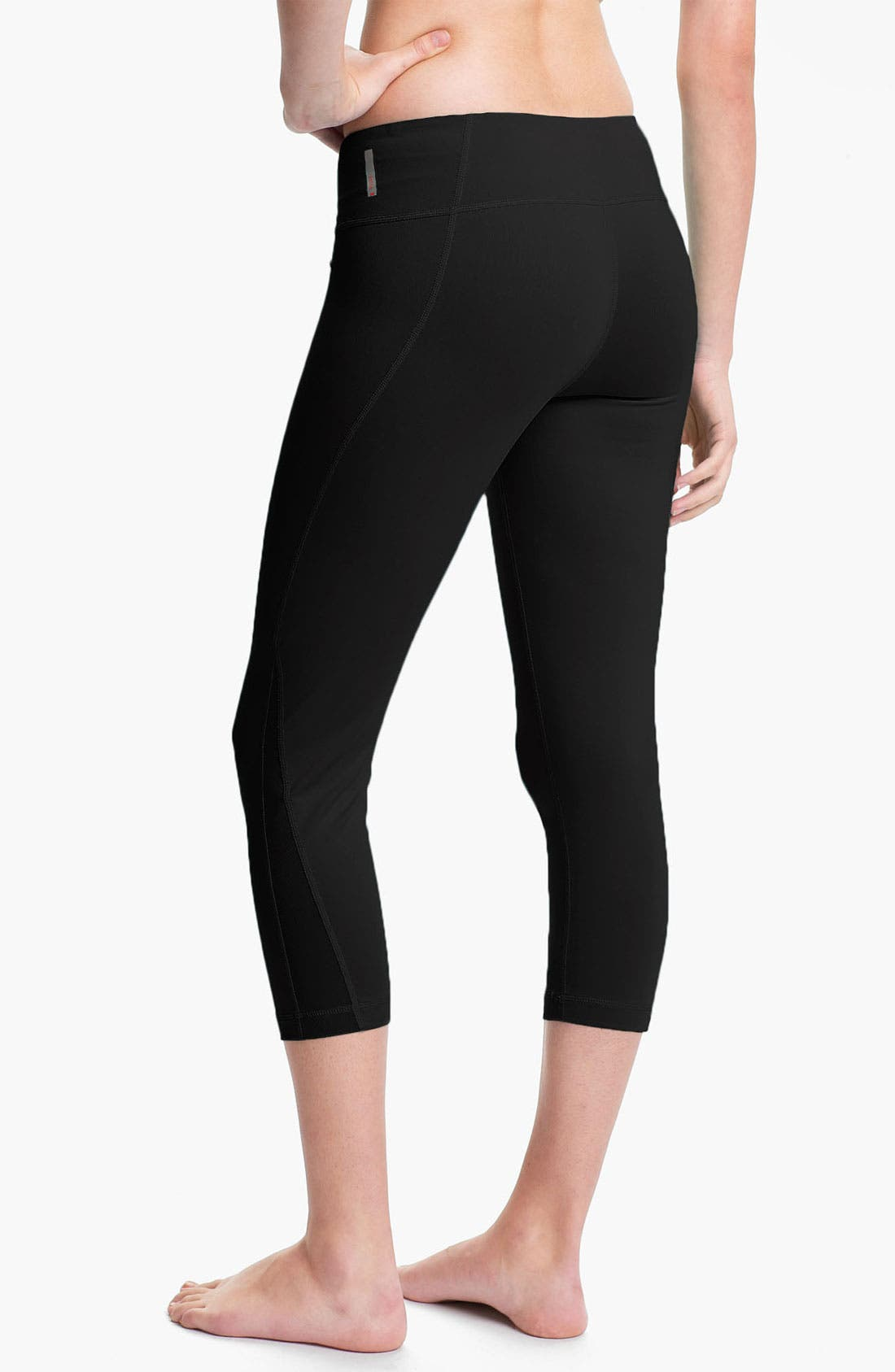 Alternate Image 2  - Zella 'Live In - Streamline' Mesh Inset Capri Leggings