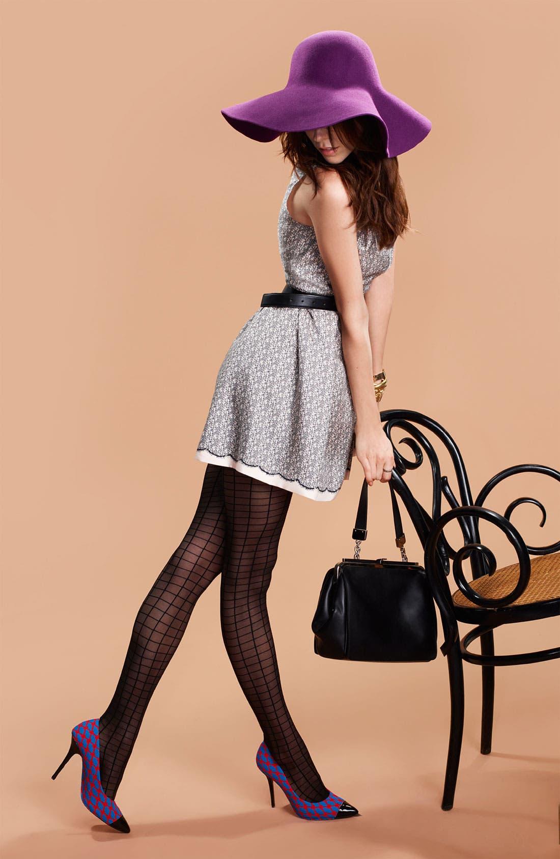 Alternate Image 4  - Miss Wu Lace Print Silk Twill Dress (Nordstrom Exclusive)