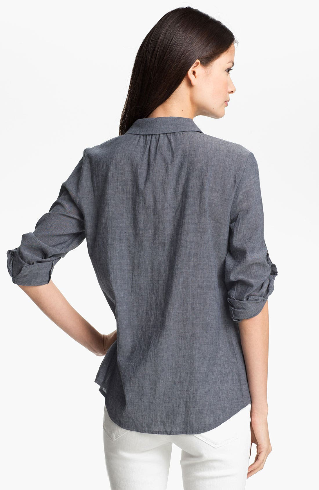 Alternate Image 2  - Eileen Fisher Chambray Shirt