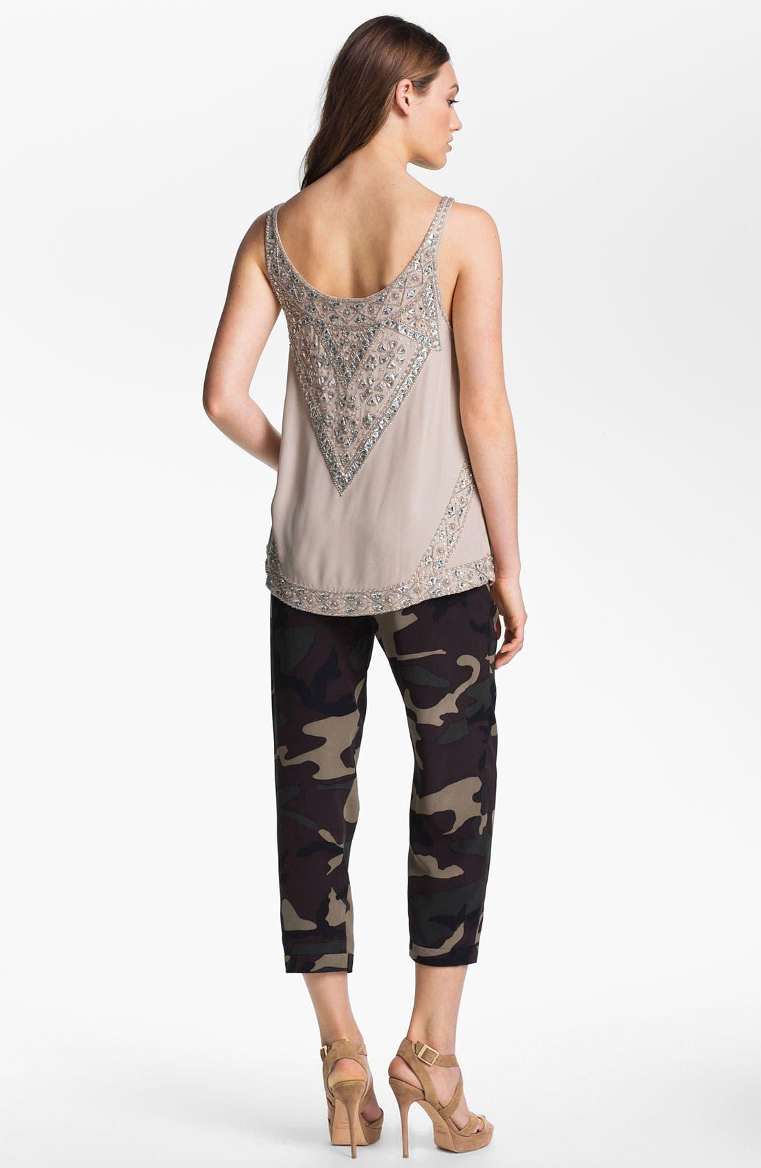 Alternate Image 9  - Haute Hippie Camo Print Drawstring Trousers