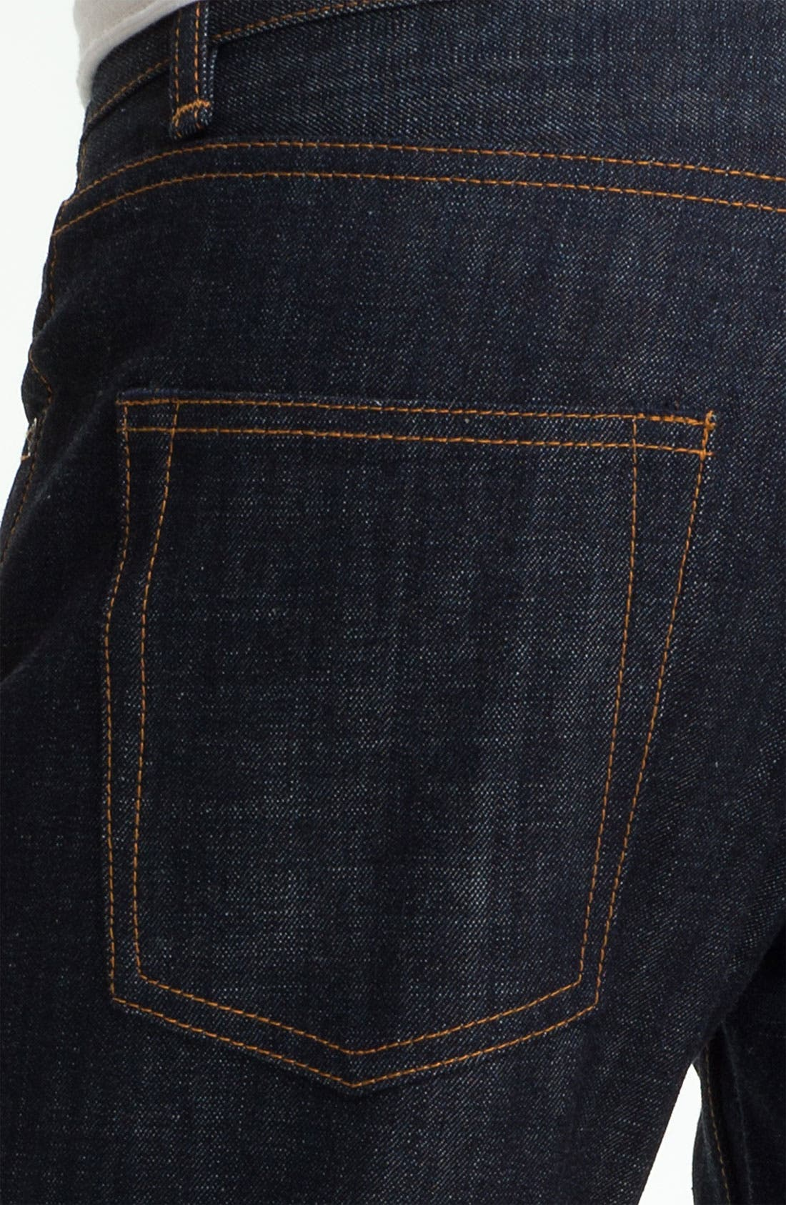 Alternate Image 4  - Obey 'Standard Issue' Slim Straight Leg Jeans (Raw Indigo)