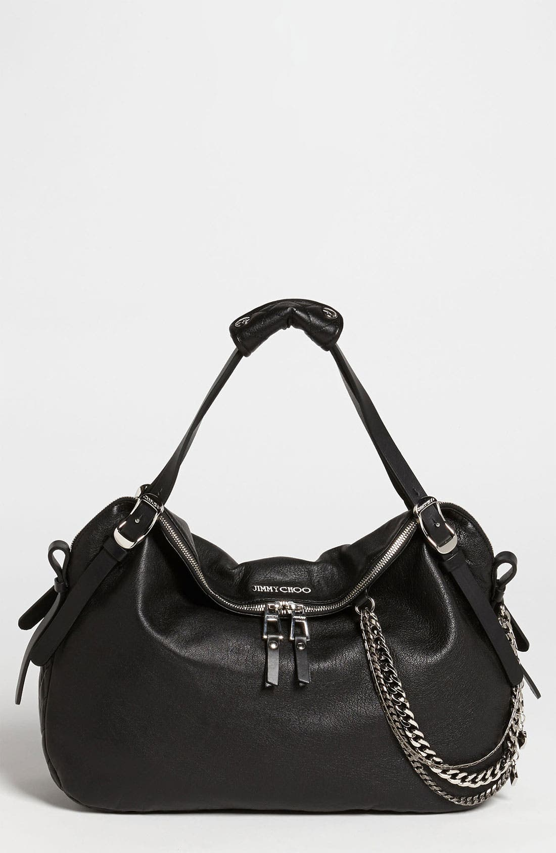 Alternate Image 1 Selected - Jimmy Choo 'Blake Biker' Leather Shopper