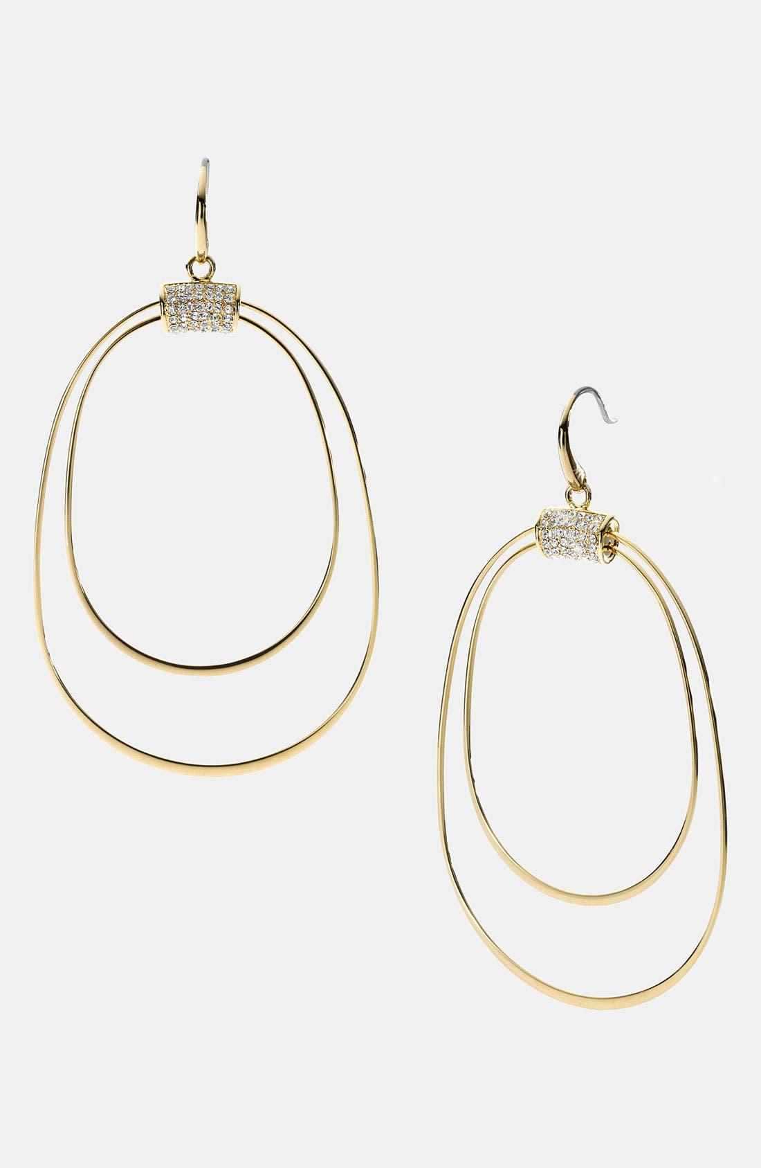 Alternate Image 1 Selected - Michael Kors 'Brilliance' Frontal Hoop Earrings