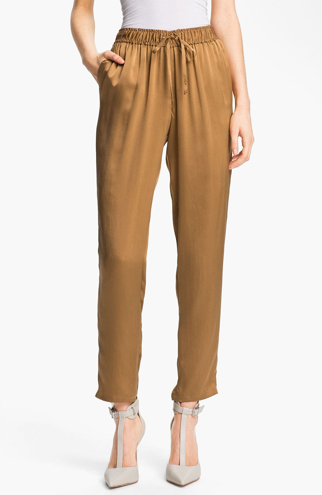 Main Image - Elizabeth and James 'Gessler' Drawstring Silk Pants