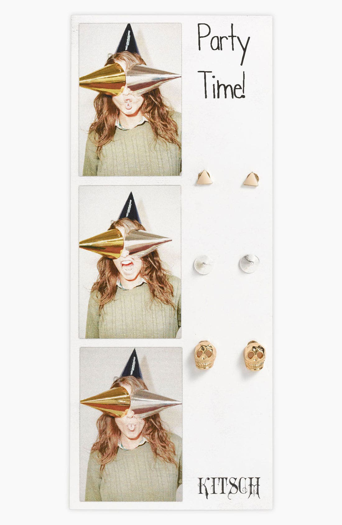 Main Image - Kitsch 'Party Time' Earrings (Set of 3)