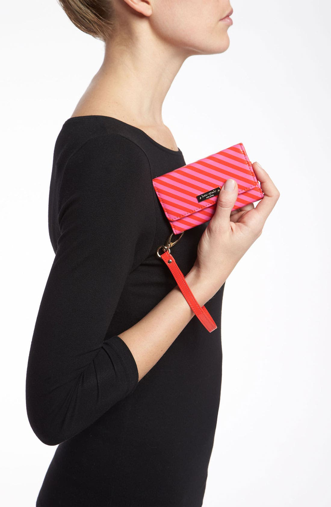 Alternate Image 2  - kate spade new york stripe iPhone wristlet
