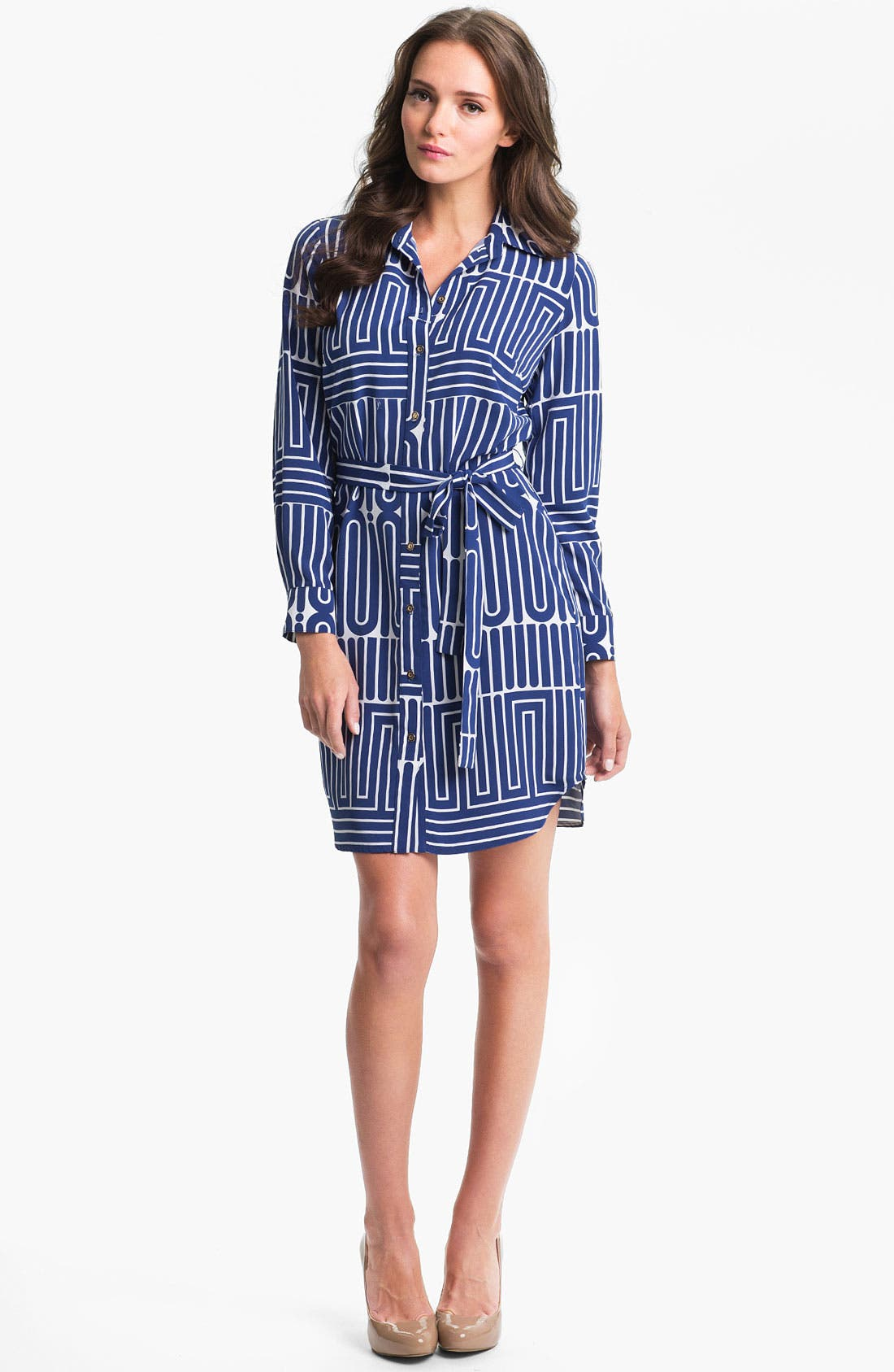Alternate Image 1 Selected - Trina Turk 'Aces' Shirtdress