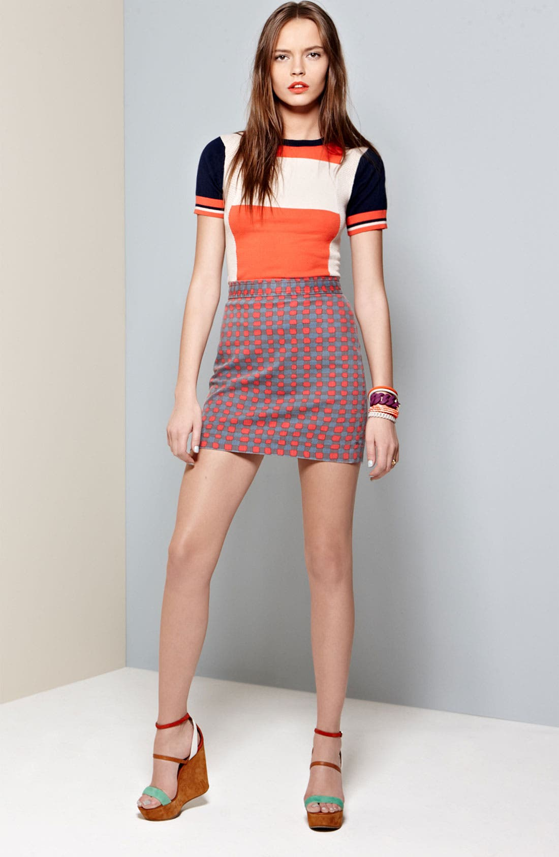 Alternate Image 4  - MARC BY MARC JACOBS 'Molly' Stretch Denim Skirt