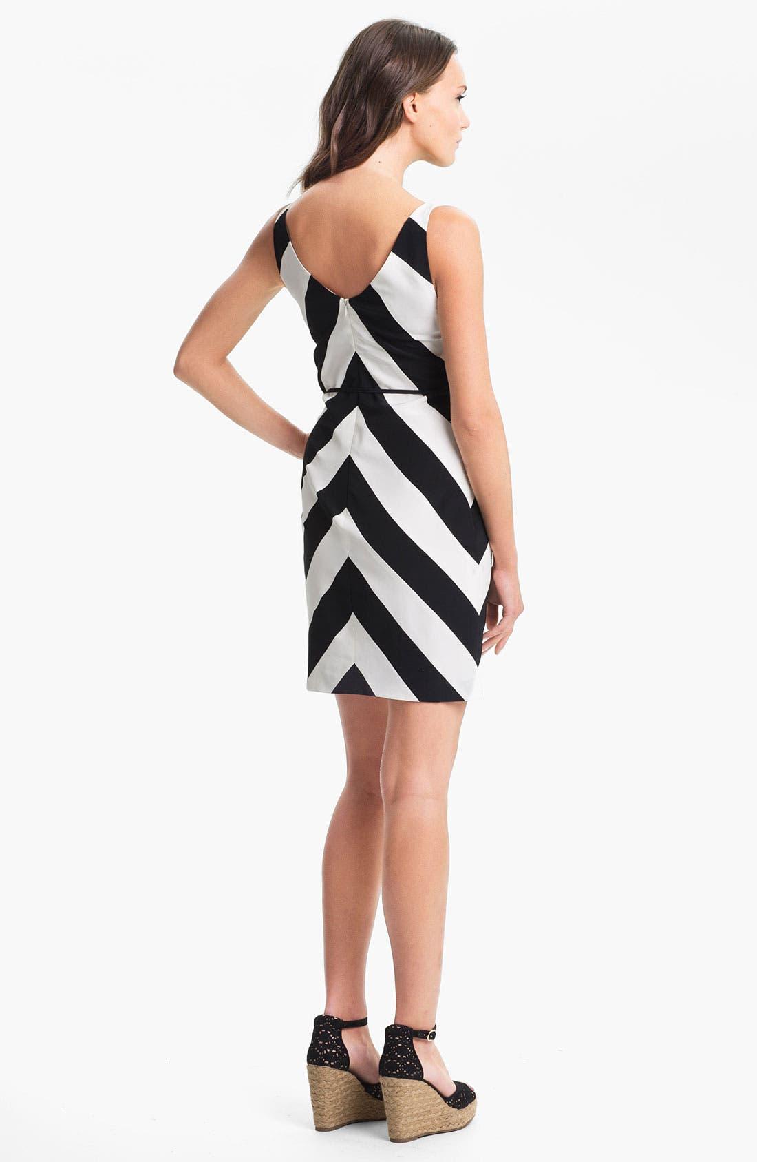 Alternate Image 2  - Trina Turk 'Rally' Stripe Silk Dress