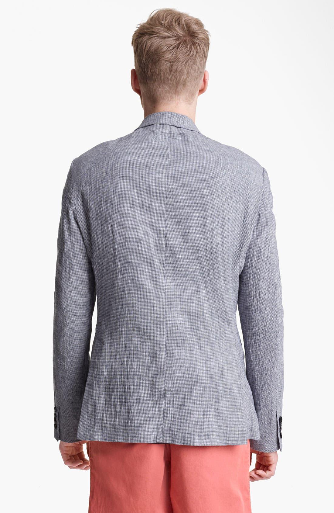 Alternate Image 2  - Shipley & Halmos 'Park' Houndstooth Cotton Blazer