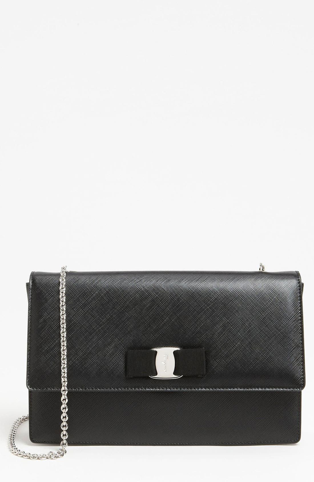 Main Image - Salvatore Ferragamo 'Jimmy' Leather Shoulder Bag