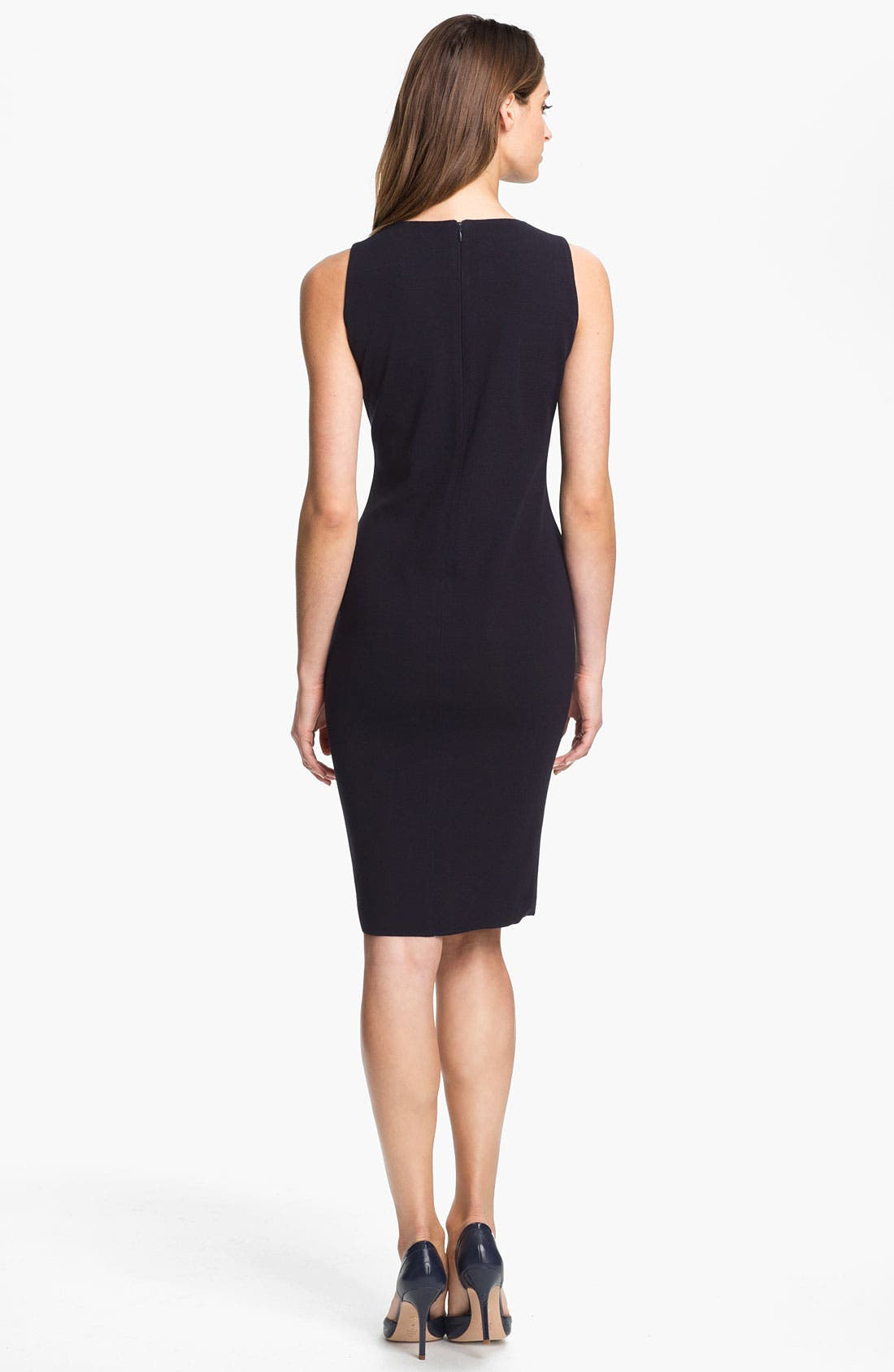 Alternate Image 2  - Exclusively Misook 'Alex' Sheath Dress (Petite) (Online Exclusive)